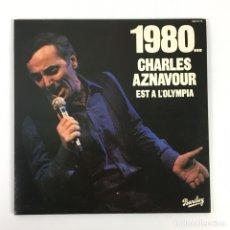 Discos de vinilo: LPX3 - 1980... CHARLES AZNAVOUR EST A L'OLYMPIA. Lote 181208333