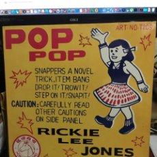 Discos de vinilo: RICKIE LEE JONES-POP POP-1991-ENCARTE CON LETRAS. Lote 181211668