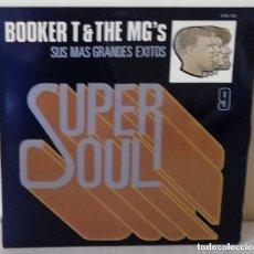 Discos de vinilo: BOOKER T & THE MG'S – SUS MAS GRANDES EXITOS SUPER SOUL 9 (STAX, S 60.125 LP, 1977). Lote 181212628