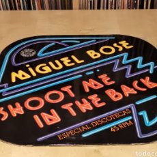 Discos de vinilo: MIGUEL BOSE - MAXI - SHOOT ME IN THE BACK SPAIN PROMO 70,S. Lote 181212666