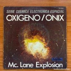 Discos de vinilo: MC. LANE EXPLOSION // OXÍGENO - ONIX // SERIE CÓSMICA ELECTRÓNICA ESPACIAL. Lote 181222958