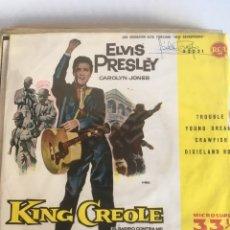 Discos de vinilo: ELVIS PRESLEY. - CAROLYN JONES. TROUBLE. YOUNG DREAMS. GRAWFISH. DIXIELAND ROCK. TDKDS4. Lote 181225105