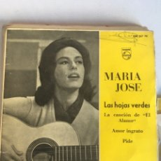 Discos de vinilo: MARIA JOSE - LAS HOJAS VERDES + CANCION DE EL ALAMO + AMOR INGRATO + PIDE EP SPAIN 1961. Lote 181225520