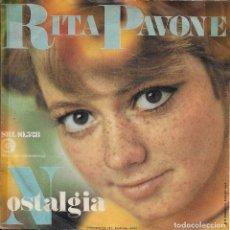 Discos de vinilo: RITA PAVONE NOSTALGIA RICORDI 1969 EDICION SUIZA. Lote 181232613