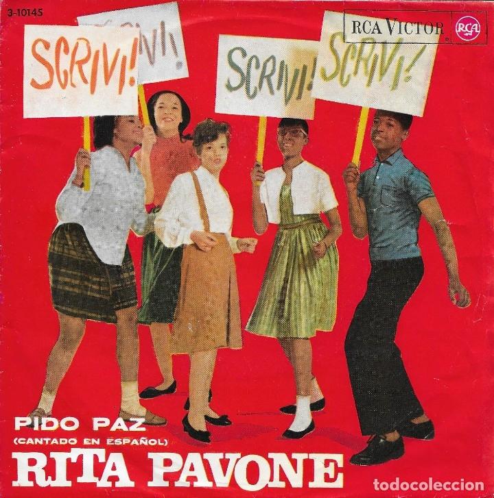 RITA PAVONE PIDO PAZ RCA VICTOR 1964 (Música - Discos - Singles Vinilo - Canción Francesa e Italiana)