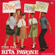 Discos de vinilo: RITA PAVONE PIDO PAZ RCA VICTOR 1964. Lote 181233386