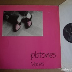 Discos de vinilo: PISTONES MX 12'' VOCES 1ª ED MR 1982 LABEL NEGRO JOYA POP MOVIDA IMPRESCINDIBLE. Lote 181317021