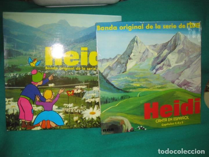 HEIDI 2 LP'S CON LOS CAPITULOS 1,2,3,4 Y 5. RCA 1975. (Música - Discos - LPs Vinilo - Música Infantil)