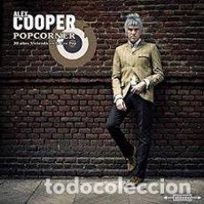 Discos de vinilo: ALEX COOPER- POPCORNER, 30 AÑOS VIVIENDO EN LA ERA POP - DOBLE VINILO - DESCATALOGADO - A ESTRENAR. Lote 181323855
