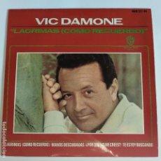 Discos de vinilo: EP ESPAÑOL - VIC DAMONE - LAGRIMAS COMO RECUERDO. Lote 181330853