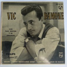 Discos de vinilo: EP ESPAÑOL - VIC DAMONE - SEGURO. Lote 181330885