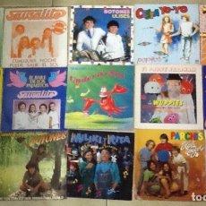 Discos de vinilo: LOTE DE 30 SINGLES MUSICA INFANTIL REGALIZ, LA PANDILLA ,PARCHIS, MONANO Y SU BANDA ,MILIKI ETC. Lote 181343998