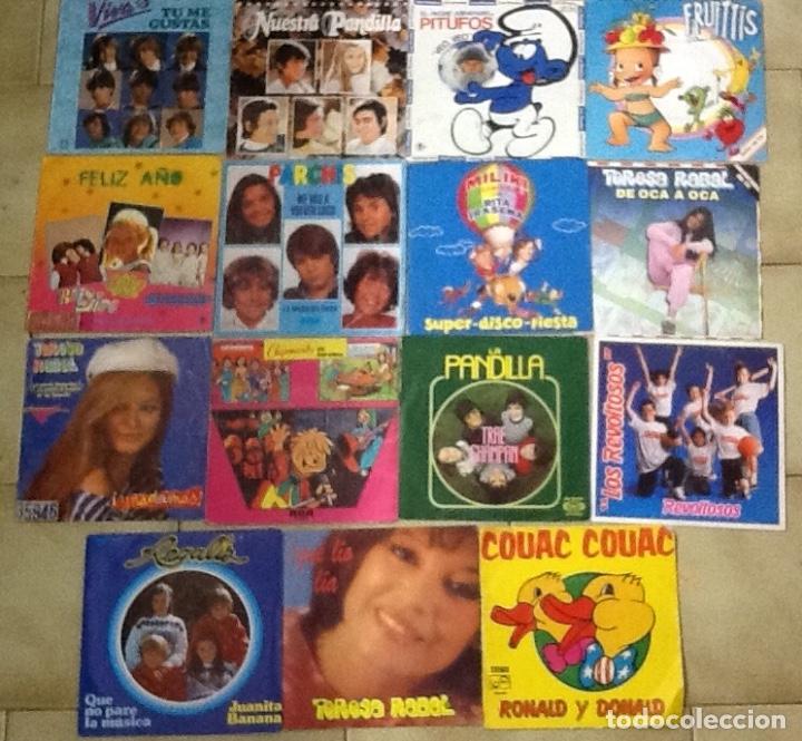 Discos de vinilo: LOTE DE 30 SINGLES MUSICA INFANTIL REGALIZ, LA PANDILLA ,PARCHIS, MONANO Y SU BANDA ,MILIKI ETC - Foto 2 - 181343998