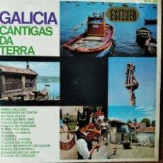 Discos de vinilo: GALICIA, CANTIGAS DA TERRA - LP 1966. Lote 181357926