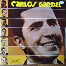 Discos de vinilo: CARLOS GARDEL -DOBLE LP 1972 + LIBRETO. Lote 181358130