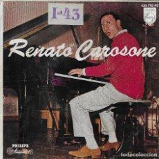 Discos de vinilo: RENATO CAROSONE TRE GUAGLIUNE E NU MANDOLINO PHILIPS 1959. Lote 181393958