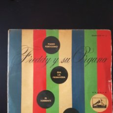 Discos de vinilo: FREDDY Y SU ORGANO PIANO FORTISSIMO ERA LA PRIMAVERA EL TORRENTE ALMAS GRANDES. Lote 181396993