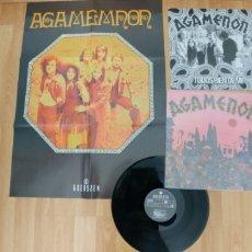 Discos de vinilo: AGAMENON-LP TODOS SE RIEN DE MI-ENCARTE Y POSTER GIGANTE. Lote 181409006