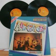 Discos de vinilo: ALLIGATORS Y CHRIS EVANS-LP DOBLE COMPARTIDO. Lote 181409278