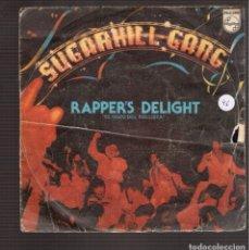 Discos de vinilo: SINGLES ORIGINAL DE RAPPERS DELIGHT. Lote 181414487