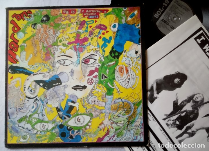 HARD-ONS - LOVE IS A BATTLEFIELD OF WOUNDED HEARTS - LP UK CON ENCARTE 1989 - VINYL SOLUTION (Música - Discos - LP Vinilo - Punk - Hard Core)