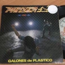 Discos de vinilo: PANZER (GALONES DE PLASTICO) SINGLE PROMO SPAIN 1985 (EPI02). Lote 181429718