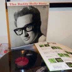 Discos de vinilo: BUDDY HOLLY - THE BUDDY HOLLY STORY 1959 ! RARA 1ª EDIC ORG USA CORAL + ENCARTE, EXC. Lote 181427408