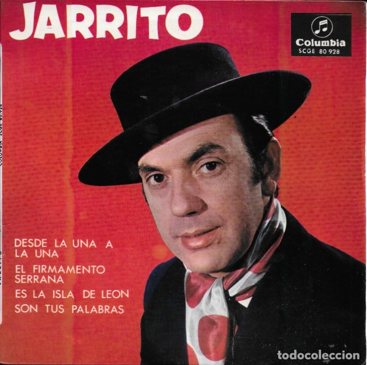 JARRITO DESDE LA UNA A LA UNA COLUMBIA 1964 (Música - Discos de Vinilo - EPs - Flamenco, Canción española y Cuplé)
