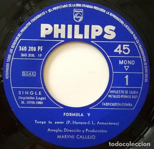 Discos de vinilo: Tengo Tu Amor - Formula V - Foto 2 - 181334505