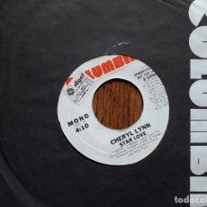 Discos de vinilo: CHERYL LYNN - STAR LOVE (MONO) + STAR LOVE (STEREO) - PROMOCIONAL USA . Lote 181450398