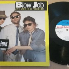 Discos de vinilo: MUSICAL REPORTERS / BLOW JOB (IT'S HARD TO BE PRESIDENT) / MAXI-SINGLE 12 INCH. Lote 181456580