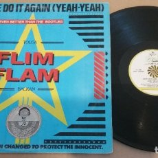 Discos de vinilo: TOLGA FLIM FLAM BALKAN / SHALL WE DO IT AGAIN (YEAH-YEAH) / MAXI-SINGLE 12 INCH. Lote 181457772