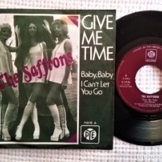 Discos de vinilo: THE SAFFRONS - '' GIVE ME TIME / BABY, BABY I CAN'T '' SINGLE 7'' SPAIN 1973. Lote 181465818