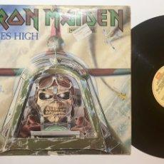 Discos de vinilo: MAXI SINGLE VINILO 12'' IRON MAIDEN ACES HIGH EDICIÓN ESPAÑOLA DE 1984. Lote 181478285