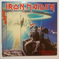 Discos de vinilo: MAXI SINGLE VINILO 12'' IRON MAIDEN 2 MINUTES TO MIDNIGHT EDICION ESPAÑOLA DE 1984. Lote 181478610