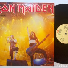 Discos de vinilo: MAXI SINGLE VINILO 12'' IRON MAIDEN RUNNING FREE EDICION ESPAÑOLA DE 1985. Lote 181478860