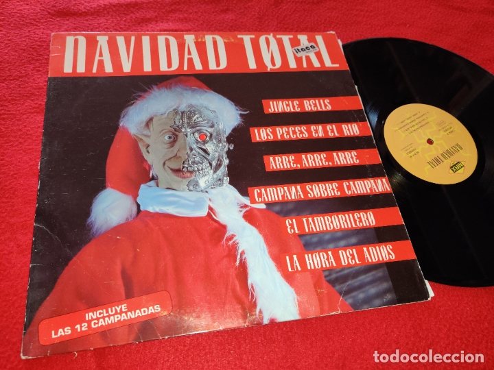 NAVIDAD TOTAL LP 1992 MAX MUSIC SPAIN ESPAÑA RECOPILATORIO (Música - Discos - LP Vinilo - Disco y Dance)