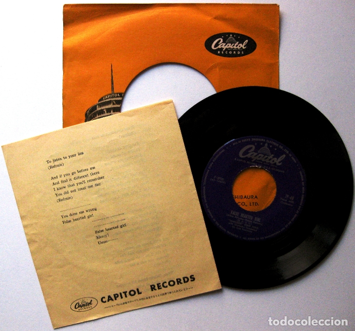 Discos de vinilo: Tennessee Ernie Ford - The Lonely Man - Single Capitol Records 1957 Japan (Edición Japonesa) BPY - Foto 2 - 181485353