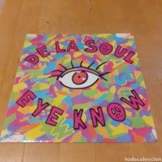 Discos de vinilo: DE LA SOUL (SIN DISCO-SOLO CARÁTULA) EYE KNOW. Lote 181491293