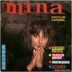 Discos de vinilo: MINA - CANTA EN ESPAÑOL - EP SPAIN 1964 - BELTER 51.410 - MASPONS+UBIÑA. Lote 181521850