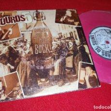Discos de vinil: LOURDS 5 OI!THE LOURDS!!/JE SUIS UN PILIER/CELIER 7'' EP 2002 GALB RECORDS FRANCE FRANCIA. Lote 181525650