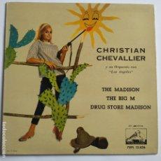 Discos de vinilo: CHRISTIAN CHEVALLIER - EP SPAIN PS - THE MADISON - MINT. Lote 181527065