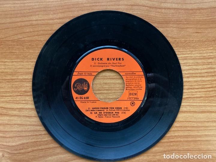 Discos de vinilo: Dick Rivers // Laisse Parler Ton Coeur // EP 7', Edición Francesa 1963 - Foto 3 - 181528270