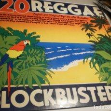 Discos de vinilo: LP 20 REGGAE BLOCKBUSTERS. ZAFIRO 1980 SPAIN (PROBADO Y BIEN, SEMINUEVO). Lote 181530138