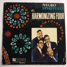 Discos de vinilo: THE HARMONIZING FOUR - EP SPAIN PS - NEGRO SPIRITUALS - VINILO AZUL - TOP RANK 1960. Lote 181530232