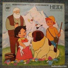 Discos de vinilo: HEIDI - MATTETE GORAN / HEIDI OSHIETE - SERIE TVE SINGLE SPAIN 1975 CBS 3872 PORTADA ABIERTA EXC.. Lote 181535212
