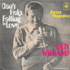 Discos de vinilo: ANDY WILLIAMS CAN'T HELP FALLING IN LOVE CBS 1970. Lote 181537576