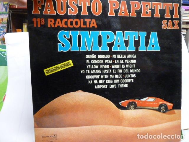 FAUSTO PAPETTI OF RACCOLTA- SIMPATIA-LP-EROTIC COVER- (Música - Discos - LP Vinilo - Orquestas)