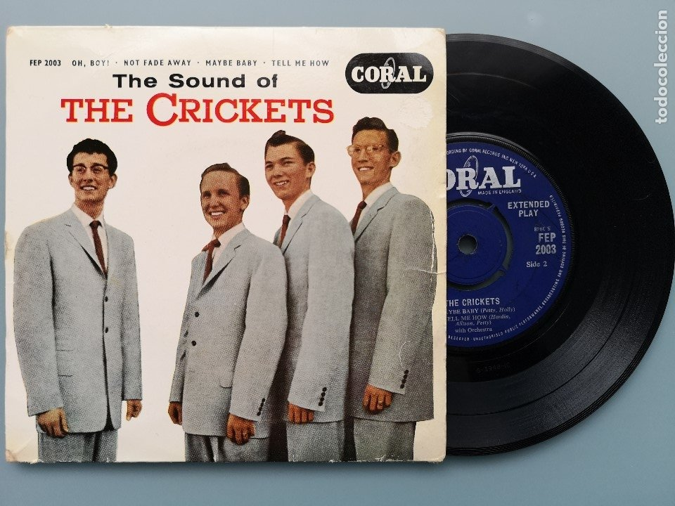 EP BUDDY HOLLY THE SOUND OF CRICKETS 1ª ED INGLESA 1958 FEP 2003 CORAL RECORDS COCHRAN ELVIS VINCENT (Música - Discos de Vinilo - EPs - Rock & Roll)