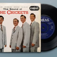 Discos de vinilo: EP BUDDY HOLLY THE SOUND OF CRICKETS 1ª ED INGLESA 1958 FEP 2003 CORAL RECORDS COCHRAN ELVIS VINCENT. Lote 181545651